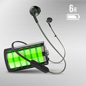jbl t205bt pure bass headphone battery life 6 Hrs