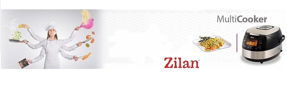 Zilan ZLN9171 Robot da Cocina, 860 W, 5 litros, 30 Decibelios, Acero_Inoxidable, 16 Velocidades, Negro: Amazon.es: Hogar