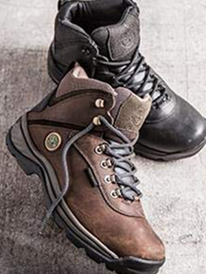 white ledge hiking boot