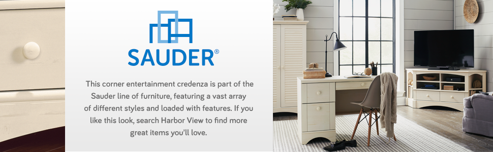 Amazon.com: Sauder Harbor View Esquina Entretenimiento ...