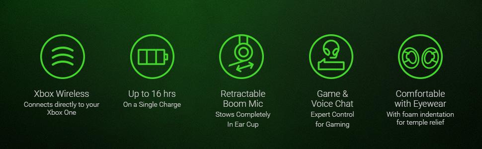 Razer Thresher Xbox One Auriculares Inalámbricos para juegos para ...