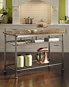 Amazon home styles the orleans kitchen island kitchen dining the orleans kitchen island with butcher block top workwithnaturefo