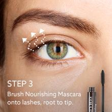 how to apply mascara; for length;base;brush; wand;instant; lengthening;natural eye makeup;lashes
