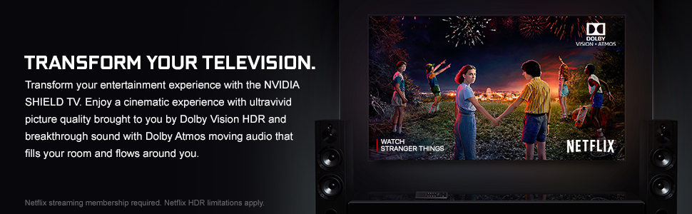 nvidia shield tv, dolby, dolby vision hdr, dolby atmos