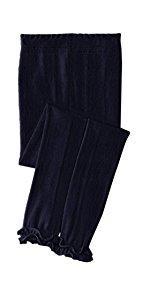 Jefferies Socks Girls' Pima Ruffle Footless Tight