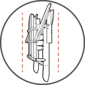 Graphic showing how adirondack folds
