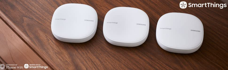 Samsung SmartThings Wifi Mesh Router Range Extender SmartThings Hub  Functionality Whole-Home WiFi Coverage - Zigbee, Z-Wave, Cloud to Cloud  Protocols