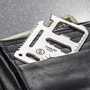 fits in your wallet, approximate thickness of two credit cards