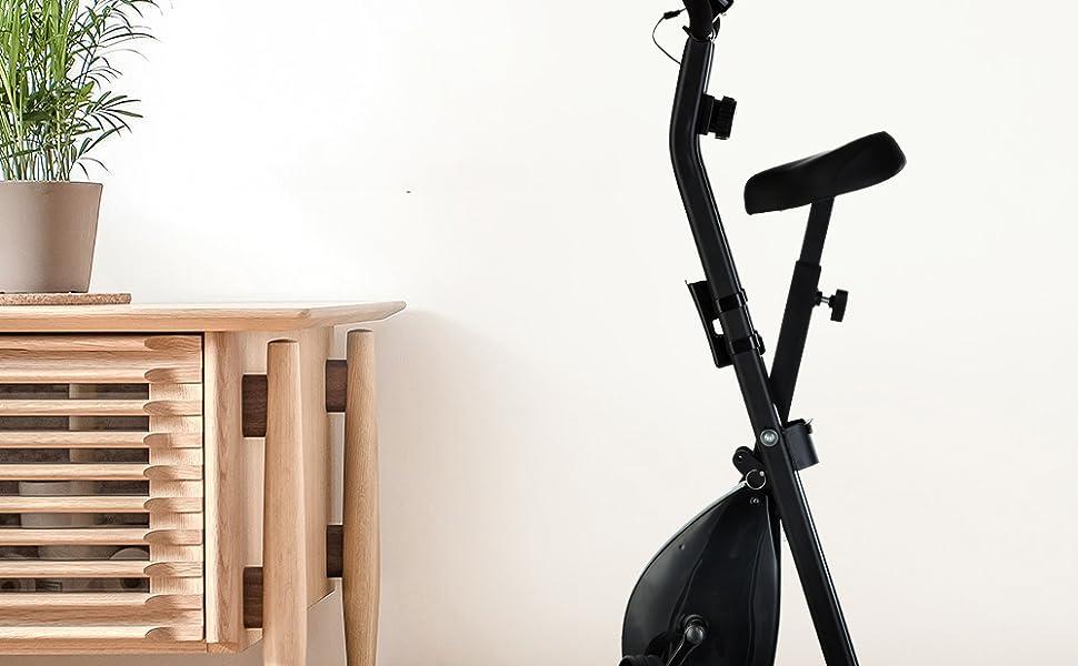 TLV-XB01 Bicicleta Estatica Plegable Tipo X para Entrenamiento, con Pantalla LCD, vista general.