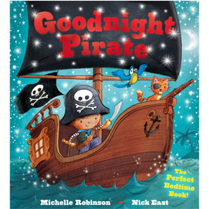 Goodnight Pirate, bedtime book, picture book, pirate book