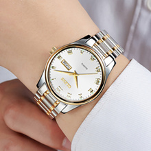 womens analog watches gold or silver womens watch with black face  Fathers' Day