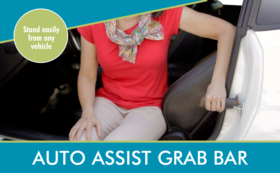 Automotive Support Handle Mobility Aid /& Car Cane Vehicle Stand Assist Grab Bar Handle Able Life Auto Cane Red