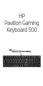 Amazon.com: HP Pavilion Wired USB Mechanical Gaming Keyboard 500 Red Switches LED backlighting Anti-Ghosting W/N-Key Media Keys 2-Way Adjustable Legs: ...