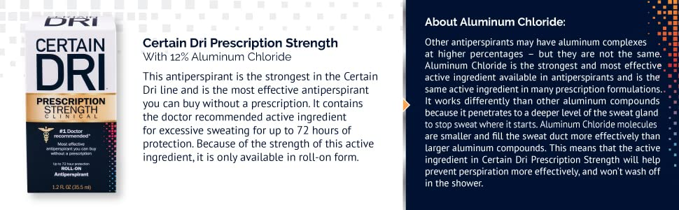 aluminum chloride, roll-on, prescription strength