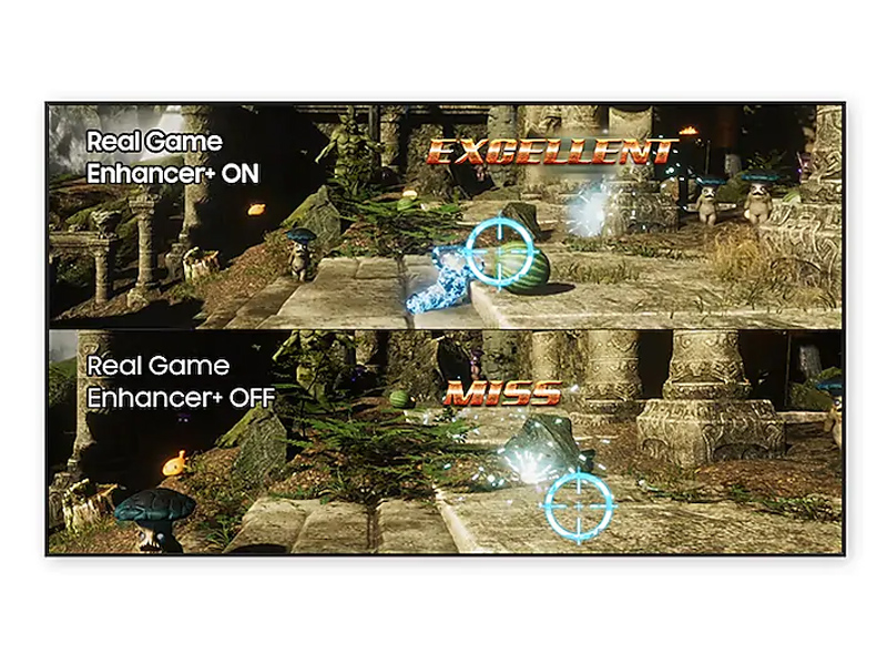 Real Game Enhancer+ on vs. off