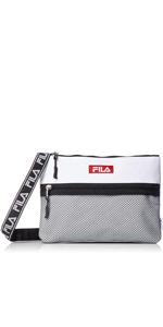 [フィラ] ショルダーバッグ FILA フィラ サコッシュ メンズ レディース 斜めがけ ロゴテープ 小型 黒 白 ネイビー トリコロール F