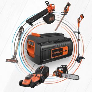 36 V accusysteem, Black + Decker, steelzuiger, kettingzaag, handcirkelzaag, accuschroevendraaier