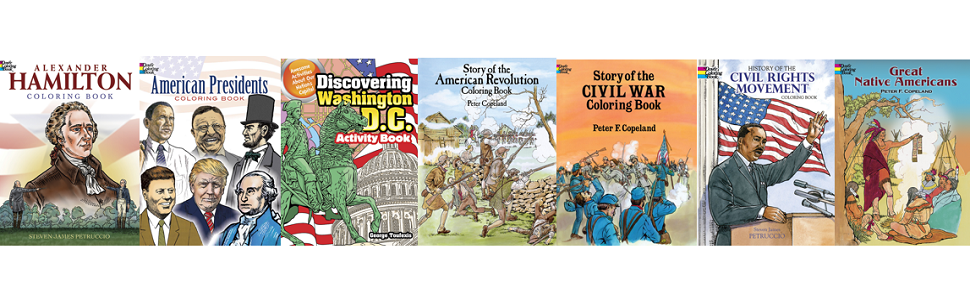 activity books, children's books, children's American history, coloring, government, puzzles