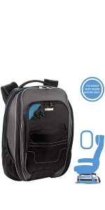 travel backpack secure underseat airplane under seat tsa compliant fits
