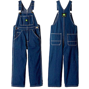 John Deere Boys Overalls, girls overalls, bibs