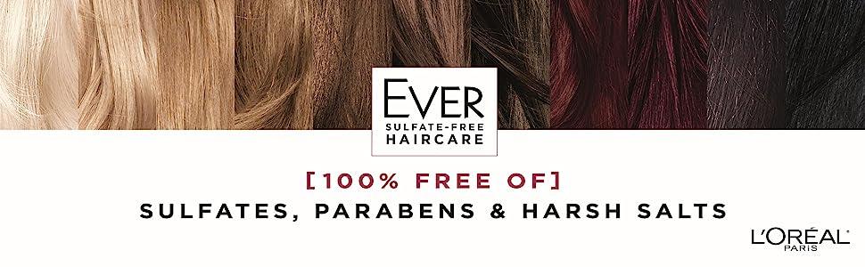 Ever, sulfate free, loreal, shampoo, conditioner