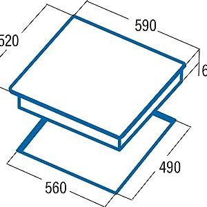 CATA vitroceramica nodelo IB 6203 BK | Placa de inducción ...