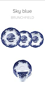 ... Vajilla porcelana Brunchfield colección Sky blue Q2386 Q2387 ...