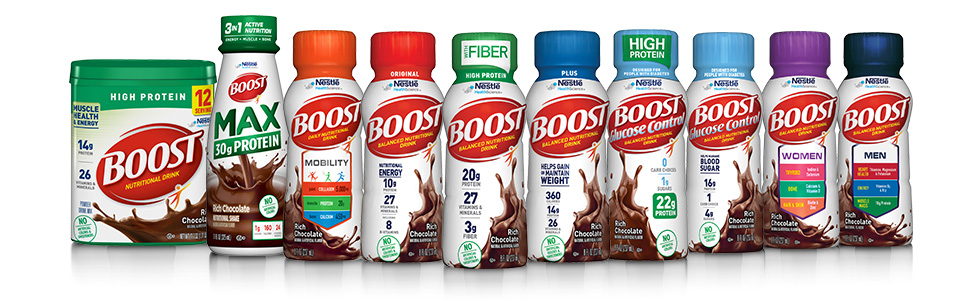 Nestle Boost Product Line