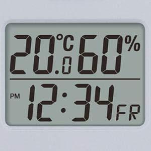 TANITA タニタ デジタル温湿度計 グレー TT-558-GY