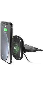 magnetic car mount qi wireless cd