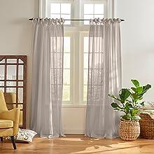 Elrene Home Fashions Vienna Sheer Window Curtain Panel