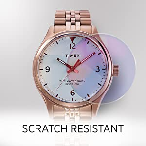 Scratch resistant glass