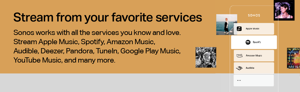 Sonos Sub - Stream from your favourite services