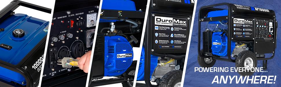 Duromax XP10000E Dual Fuel Portable 10000 Watt Generator