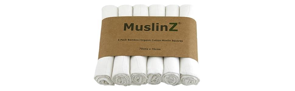 Squares Bambooorganic Cm 70 Luxury Cotton Muslin White Muslinz IF5xzRqwx ec3712eaaf