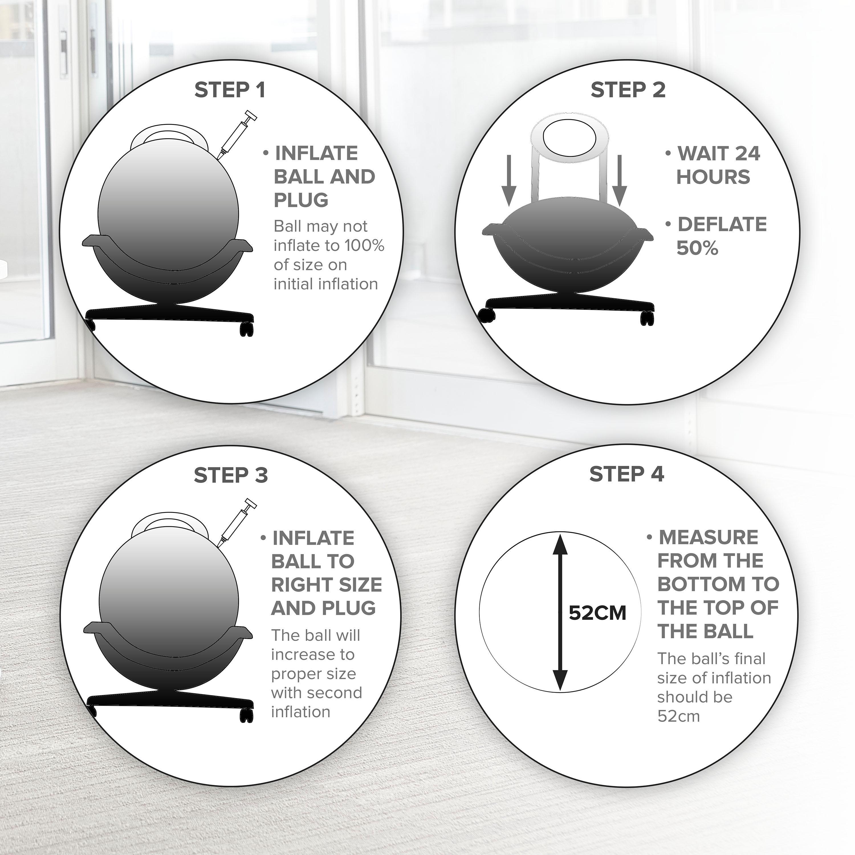 Gaiam Balance Ball Chair Inflation: Amazon.com: Gaiam Ultimate Balance Ball Chair