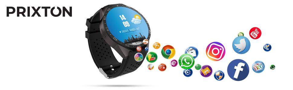 PRIXTON SW41 - Smartwatch para Hombre y Mujer con Sistema ...