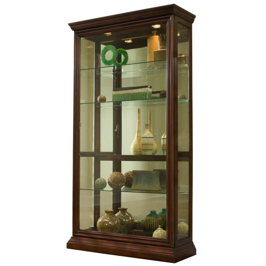 Mirrored CurioCorner CurioSliding Door CurioCurio ConsoleDisplay Case  sc 1 st  Amazon.com & Amazon.com: Pulaski Two Way Sliding Door Curio 43 by 16 by 80-Inch ...