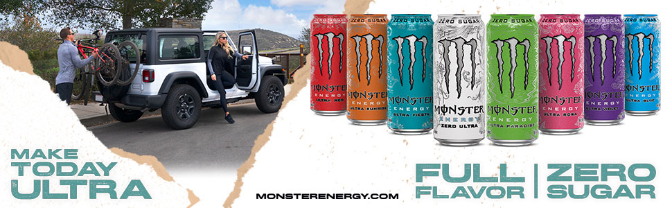 Monster Energy Ultra - Full Flavor, Zero Sugar - Make Today Ultra