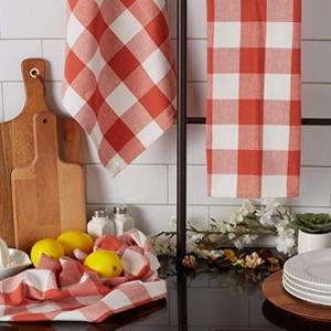 Dish Towels Over Countertop