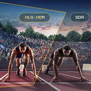 HDR10 & HLG Compatible