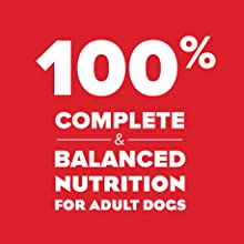 One hundred percent complete and balanced nutrition for adult dogs