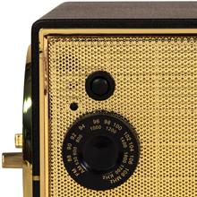 Black Crosley CR3038A Lewis Retro AM//FM Bluetooth Tabletop Radio
