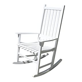 Traditional Rocking Chair, White  MPG PT 41110WP