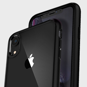 Spigen Ultra Hybrid 360 Designed for Apple iPhone XR Case (2018) Tempered Glass Screen Protector Included - Black