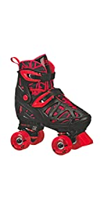 Trac Star · Firestar, Zinger, Blazer Lighted-Wheel Skates · Flux 2-in-1 · Protective Tri-Pack
