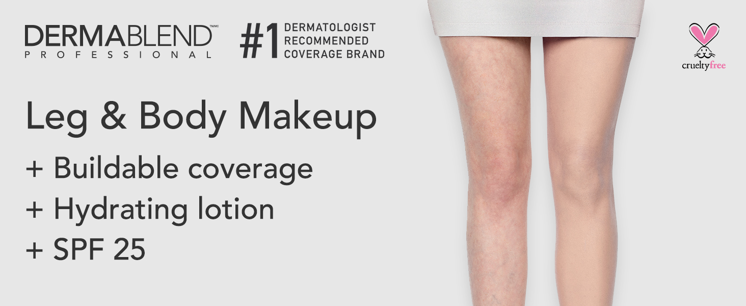 dermablend, leg and body makeup, hydrating lotion,