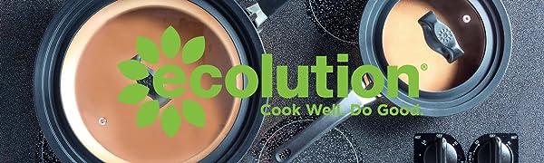 Ecolution Logo and Pots