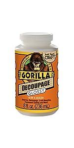 Gorilla Decoupage Glossy Glue and Sealer