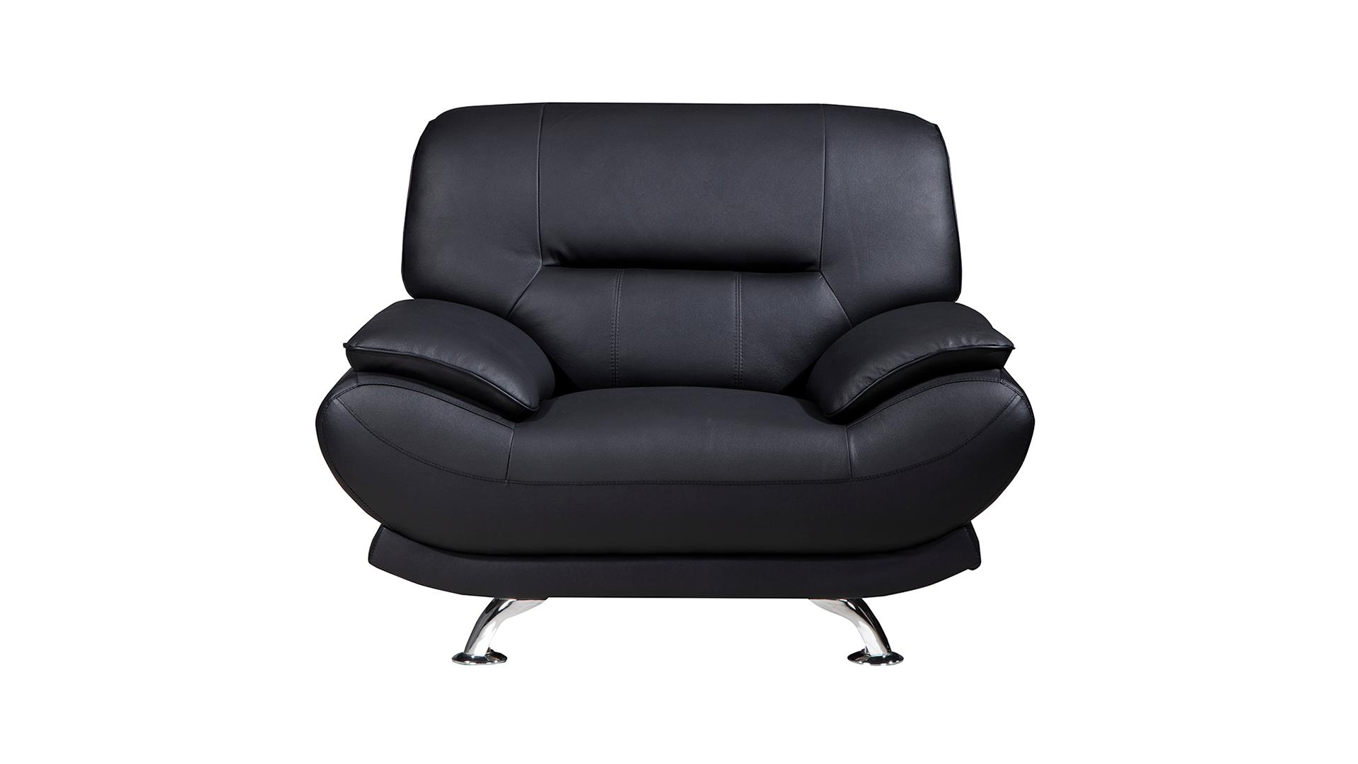 Outstanding American Eagle Furniture Arcadia Collection Genuine Leather Living Room Armchair With Pillow Top Armrests Black Gmtry Best Dining Table And Chair Ideas Images Gmtryco